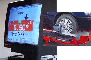 4輪トータルアライント測定機